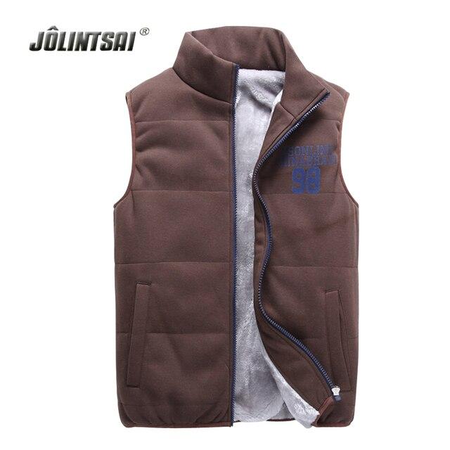 Autumn/Winter Fleece Vest Men 2017 Lover's Custom Colete Plus Size 4XL Mens Warm Vest Sleeveless Waistcoat Coat Gilet Homme