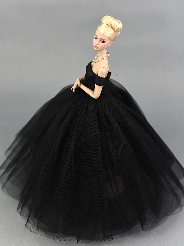 Pequeño Negro Muñeca Ropa Novia De Vestido Para Princesa Barbie MqzVGSUp