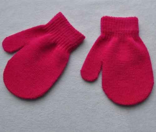יילוד תינוק ילד ילדה פעוט כפפות כפפות בני בנות מוצק החורף חם רך ילדים כפפות 7 צבעים