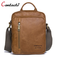 CONTACT S Men Bags Genuine Leather Bag Men Shoulder Crossbody Bags Handbag Male Small Messenger Bag