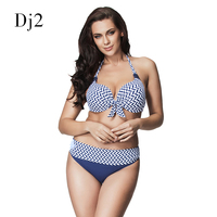 High End Bikini Set Push Up Swimwear Women 2017 High Waisted Swimsuits Sexy Halter Strappy Bathing
