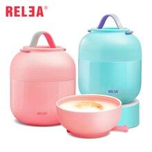 RELEA Marke Isolierte Gläschen Thermoskannen 500 ml Edelstahl Isolierte Lebensmittelbehälter Vakuum Lunchbox Thermos für Kinder