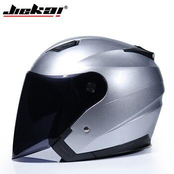 JIEKAI Motorcycle Helmets Electric Bicycle Helmet Open Face Dual Lens Visors Men Women Summer Scooter Motorbike Moto Bike Helmet 21