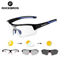 ROCKBROS Photochromic Cycling Sunglasses Eyewear UV400 Polarized MTB Road Bicycle Goggles Women Men Outdoor Sports Bike