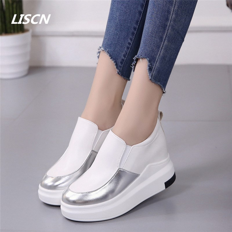 2018 New Fashion Flat Women Sneakers Breathable Shoes Woman Leather Casual Shoes Tenis Feminino Women Flats Zapatillas Mujer