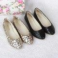New style Verão Mulheres Tecido De Couro Slip-On Flats Sapato Casual Senhora Mocassins Bailarina Mocassins de Moda Feminina Tamanho 41