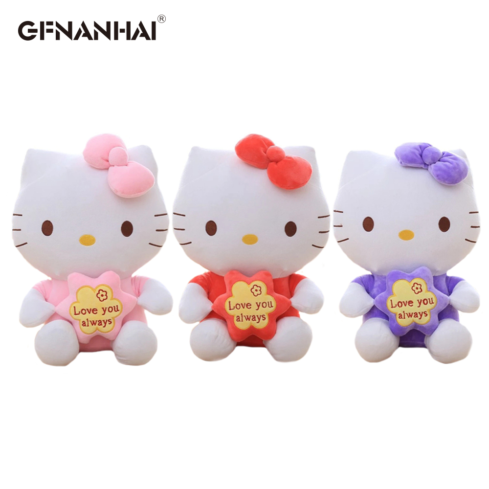 68fcf4533 25cm High Quality Creative Stuffed Animal Toys Hello Kitty Plush Toys For  Children Birthday's Gift For Kids Baby Cartoon Movie