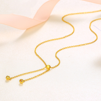 BTSS 24K Pure Gold Necklace Real AU 999 Solid Gold Chain Beautiful Leaf Upscale Trendy Classic Fine Jewelry Hot Sell New 2020 3