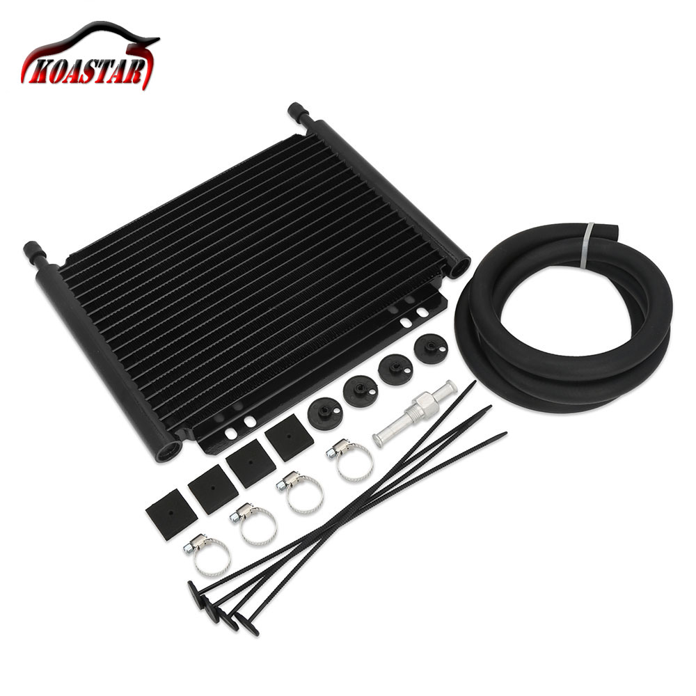 8000 Type Plate Fin Transmission Oil Cooler Aluminum Transmission Oil Cooler 19 Row Automatic Stacked Plate