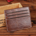 New Trend Design Genuine Leather Mini Wallet For Women Men Casual Small Clutch Bag ID/Credit Card Holder Coin Purse High Quality