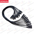 SONGXU 10pcs/lot 1 Meter length 3-pin signal connection DMX cable for stage light, stage light accessories/SX-AC008