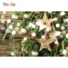 Yeele Christmas Photocall Wood Decor Bokeh Lights Photography Backdrops Personalized Photographic Backgrounds For Photo Studio