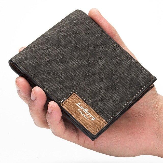 3200872eb Marca 2018 vintage Hombre cartera masculina delgada superior calidad cuero  Carteras delgada dinero