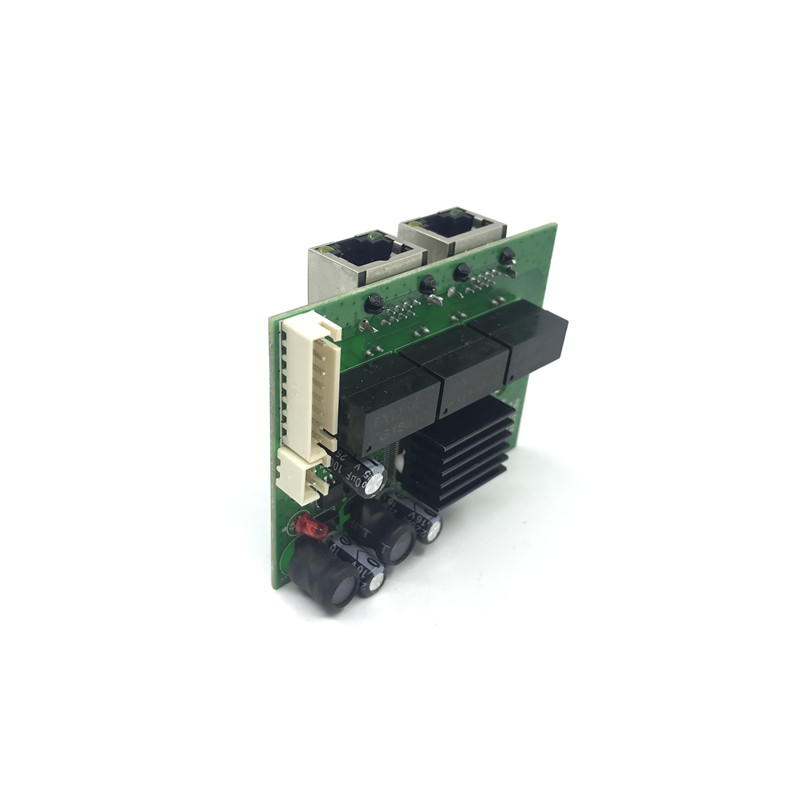 Image 2 - factory direct mini fast 10/100/1000mbps 2 port ethernet network lan hub switch board two layer pcb 2 rj45 1*8pin head port-in Network Switches from Computer & Office