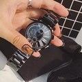 Luxury Brand Полная Сталь Женщины Черные Часы Моды Случайные Кварцевые Дамы Наручные Часы relogio feminino relojes mujer 2016