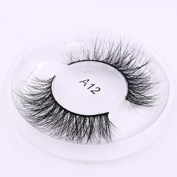 1Pair Natural Stylish Fashion Women Handmade Soft 3D Real Mink Fur Thick Long False Eyelashes Messy Cosmetic New Package Beauty False Eyelashes