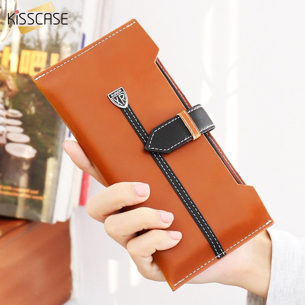 KISSCASE Men Women Handbag Phone Cases For iPhone 6 7 6S Plus Case 5 5S SE Leather Purse For Samsung Galaxy S6 S7 Edge J5 J7 A7