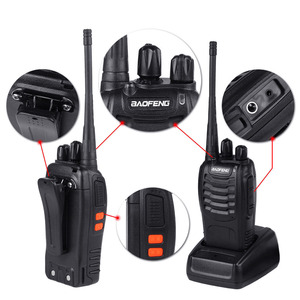 Image 4 - 4pcs/lot BAOFENG BF 888S Walkie Talkie Two Way Radio Baofeng 888s UHF 400 470MHz 16CH Long Range Portable Transceiver + Earpiece
