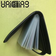 Fashion brand cow leather men card holder Fashion Business credit card holder Large capacity Genuine Leather id card holder