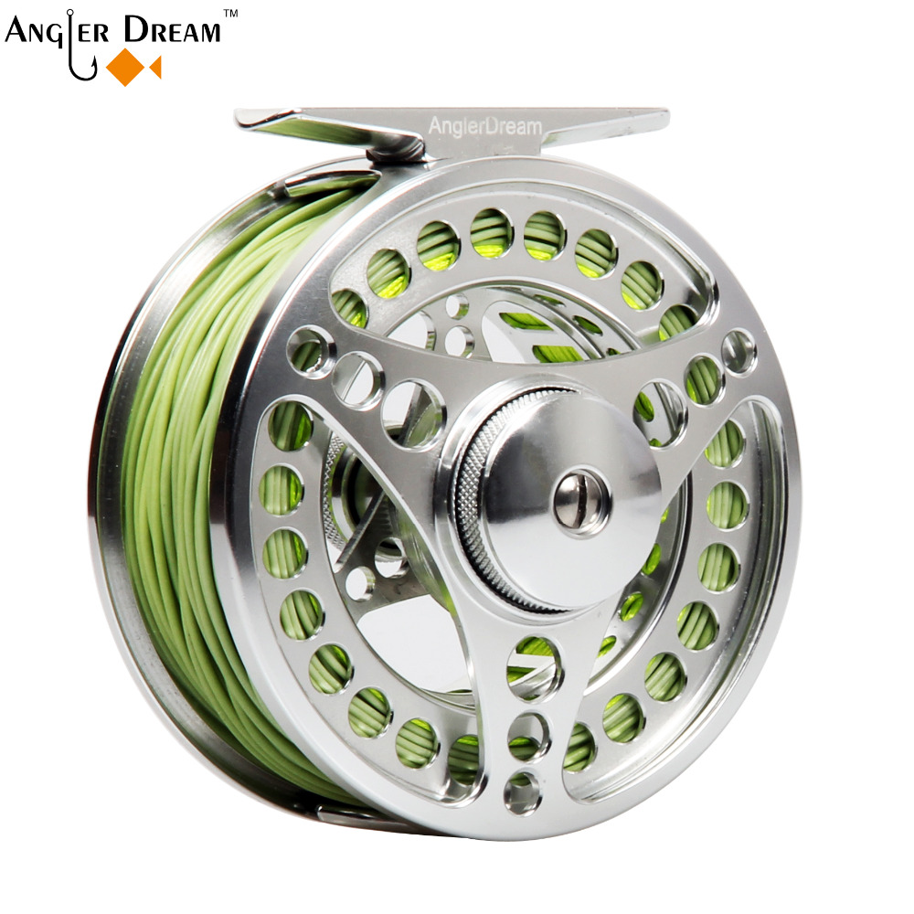 3/4 5/6 7/8WT CNC Machined Fly Reel Aluminum Large Arbor Fly Fishing Reel Combo Weight Forward Floating Fishing Line & Backing 95mm fly fishing reel 7 8 cnc machined aluminum 2 1bb fly spool fishing wheel fishing accessory