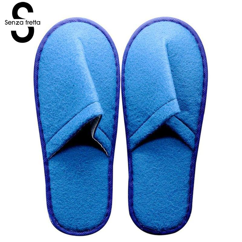 Senza Fretta 1pair Disposable Slippers Indoor Soft Household Slippers Travel Guest Hotel Floor Bottom Cotton Cloth Slippers 28cm скатерть a promise household cloth 13