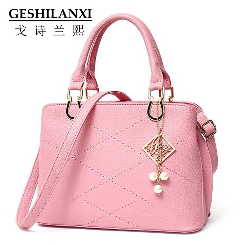 ФОТО 2016 chain bags women famous brands women designer handbags fashion  ladies Solid color Metal chain Lattice patterns