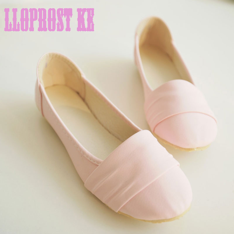 Lloprost ke Spring Autumn Women Ballet Flats Basic Boat Shoes Woman Loafers Shallow Slip on Shoes Pink White flat shoes JT206 refillable ink cartridge for brother lc213 for brother mfc j4410dw j4510dw j4610dw j4710dw j470dw j6920dw dcp j4110dw j132w