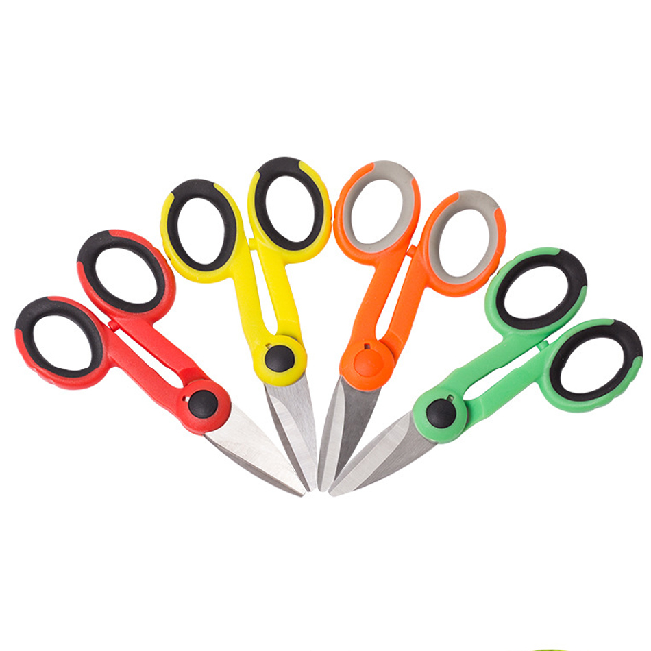 Mini Multifunctional Wire Shears Rubber Handles Electric Scissors Cable Scissors  Hand Tools