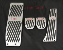 Алюминий Подставка Для Ног Педали Набор, Пригодный для BMW E30 E36 E46 E87 E90 E91 E92 E93 M3 M Tech MT Серебристого Цвета