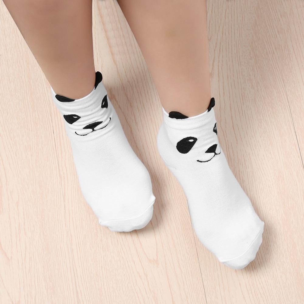 Initiative 1/2 Pair Fashion Cotton Panda Ankle-high Socks Unisex Men Women 3d Printed Cartoon Animal Print Panda Ankle-high Funny Socks With Traditional Methods Underwear & Sleepwears Women's Socks & Hosiery