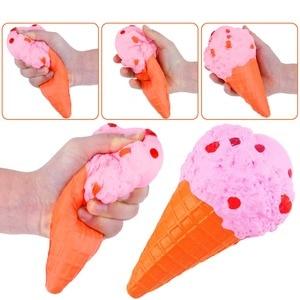 Image 5 - 3pcs Soft Ice Cream Burger Squishy Set Jumbo Slow Rising Food Anti Stress Squish Toy for Kids Adult Squeeze Xmas Gift