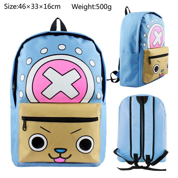 lovely One piece Tony Tony Chopper kawaii printing cartoon backpacks hot schoolbag for anime fans durable material ab241