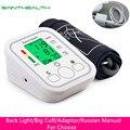 Monitor de presión Arterial de brazo Digital automático BP Sphygmomanometer medidor de presión tonómetro para medir la presión Arterial