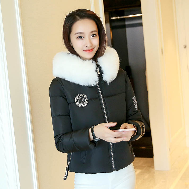 Wadded Winter Jacket Women Cotton Casual Coat Outwear Fur Collar Padded Warm Parka High Quality Hooded Female Thick Overcoat стоимость
