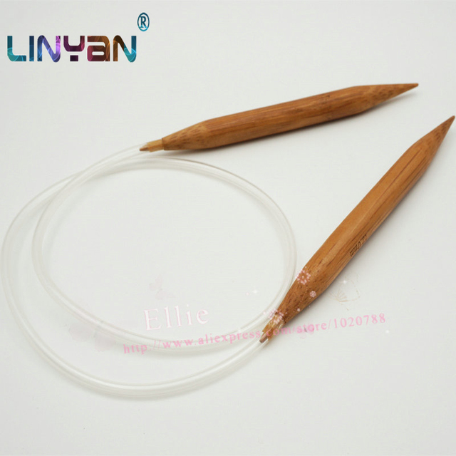 2 Stks 12mm Ringvormige Naald Bamboe Pvc Zacht Rubber Slang Breien