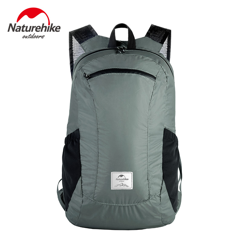 Naturehike Folding Waterproof Bag Ultralight Unisex Shoulder Straps 3 Colors Outdoor Traveling Climbing Sport Foldable Backpack