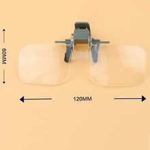 New Magnifier Folding Handfree Clip On Clear Magnifying Glasses HD Lens Precise Eyeglasses Jewellery Appraisal Watch Repair Tool