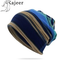 Kajeer Brand Autumn Winter Hats For Women Plaid Design Contrast Men Ladies Hat Skullies And Beanies Men Hat Unisex Cap Female