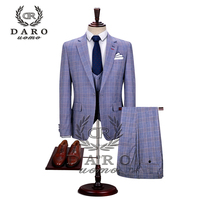 DARO 2019 New Men Suit 3 Pieces tuxedo Slim Fit for Wedding Dress Suits Blazer Pant and Vest DAROV8189