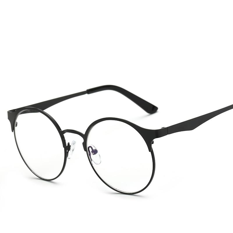 Gafas de metal Marcos Retro redondos anteojos recetados con lentes - Accesorios para la ropa