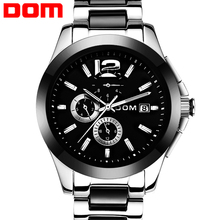 DOM 2016 Mechanical Stainless Steel Watch Mens Waterproof Watches Fashion Brand Luxury Watch Men Watches Top