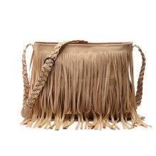 Vintage Quaste Frauen Messenger bags frauen Neue Mode Casual Quaste Fester Beutel Hoher Qualität Umhängetasche Damen klassische handtasche