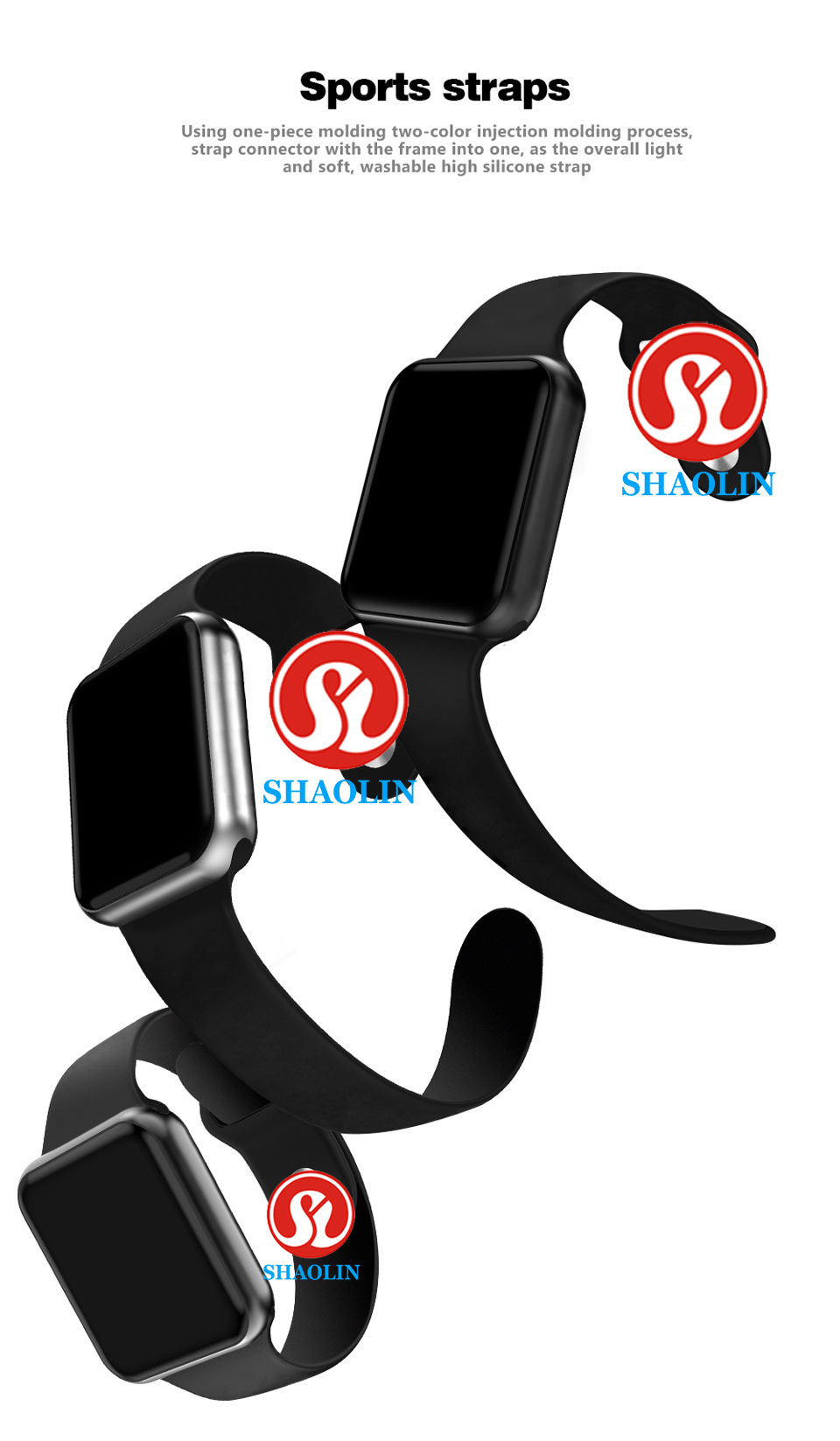 SHAOLIN Bluetooth Smart Watch Heart Rate Monitor Smartwatch Wearable Devices for apple watch iPhone IOS and Android Smartphones-02