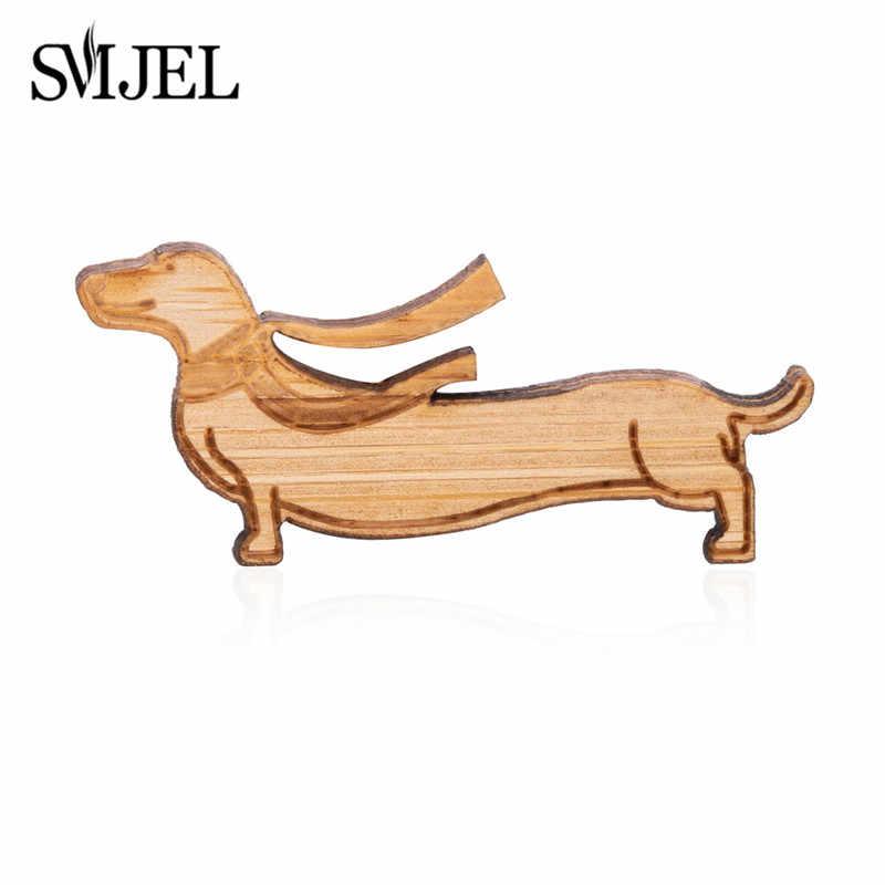 SMJEL милое украшение для собаки такса и заколка на шарф зимние собачьи Броши для женщин Новогодний подарок женские аксессуары Bijoux