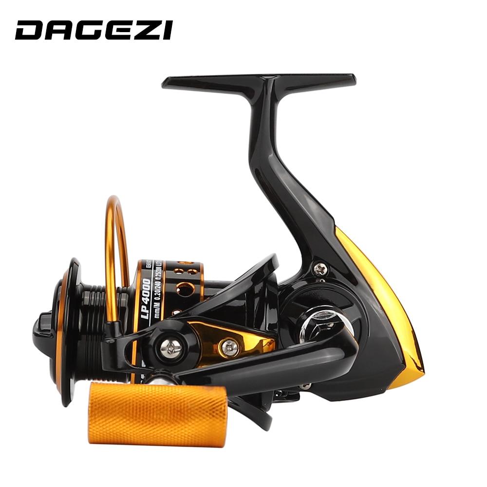 DAGEZI Metal spool wheels spinning reel 5.2:1 13 Ball Bearing fishing reel 1000-4000series carretilhas de pescaria molinete