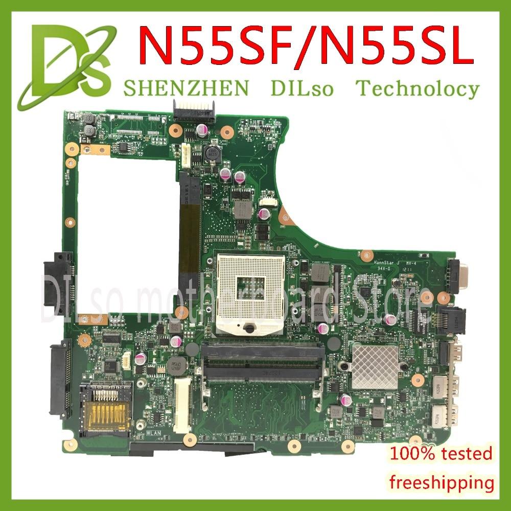 KEFU N55SF Mainboard For ASUS N55S N55SF N55SL Laptop Motherboard HM65 REV.2,0 Test Work 100% Original In Stock