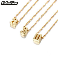 Enashion Small Letter Necklaces Pendants Alphabet Initial Necklace Gold Plated Choker Necklace For Women Jewelry Kolye