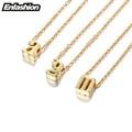 Enfashion pequena carta colares pingentes colar banhado a ouro alfabeto inicial choker colar para mulheres jóias collier kolye