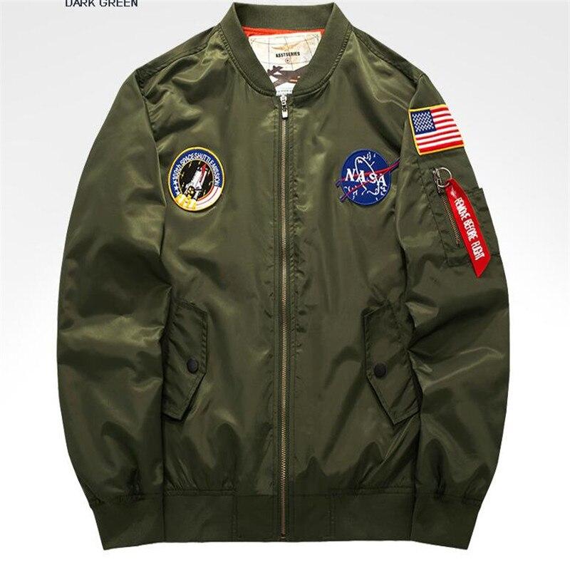Bomber Veste nouveaux Hommes de Mode printemps Automne Patch Militaire Chapitre Militaire Moto Vestes Hommes Vol Pilote Air Force manteau