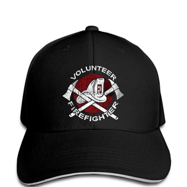 7b4da71f funny Baseball caps Volunr Firefighter cap Helmet Fire Rescue Hero Men Baseball  cap